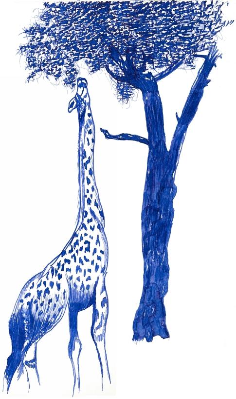 Giraffe and Tree assembly